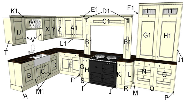 Eden Sanded Traditional Kitchen Components