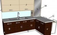 Cento Wenge Modern Kitchen Components