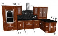 Estro Walnut Kitchen Components