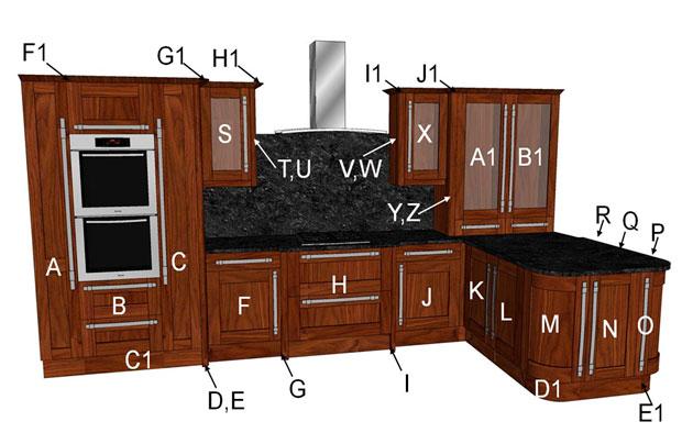 Estro Walnut Kitchen Components