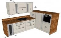 Fresco Beige Modern Kitchen Components