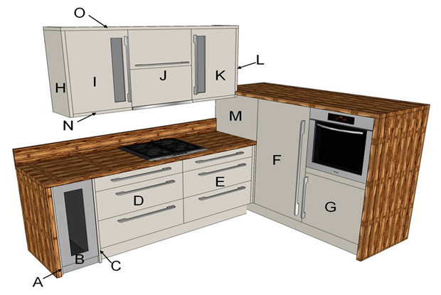 Fresco Beige Modern Kitchen Components