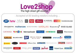 Win £25s worth of Love2Shop vouchers