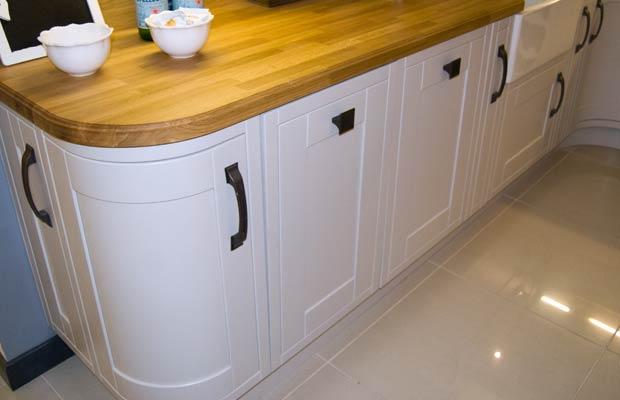 Inframe kitchen appliance door