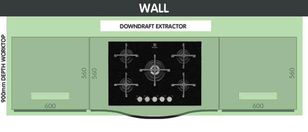 Downdraft extractor