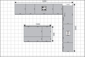 L Shaped Kitchen Floor Plan