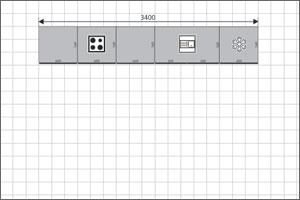 Straight Run Kitchen Floor Plan