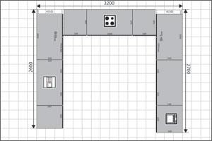 U Shaped Kitchen Floor Plan
