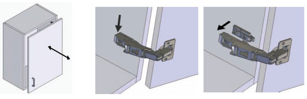 How to adjust hinge plates