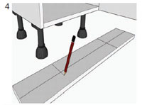 How to adjust unit legs and attach plinth