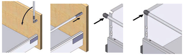 How to fix the front onto a pan drawer