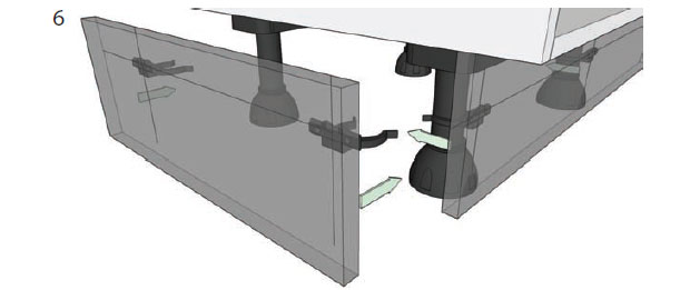 How to adjust unit legs and attach plinth diy kitchens for Kitchen units without plinths