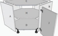 1 corner angled base unit assembly