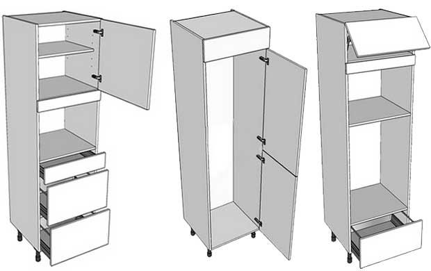 Which appliances fit in tall kitchen units diy kitchens for Fitting kitchen units