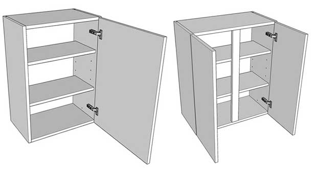 Different types of wall units available diy kitchens for Single kitchen wall unit