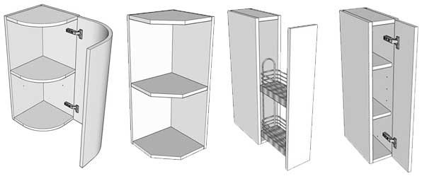 different types of wall units available diy kitchens