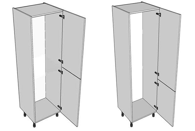 Integrated Fridge Freezer Wall Unit And Power Socket Diy