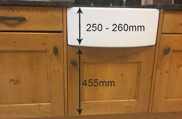 455mm belfast sink unit with sink