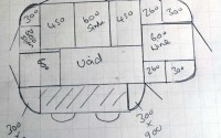 Innova Linwood kitchen split level island sketch