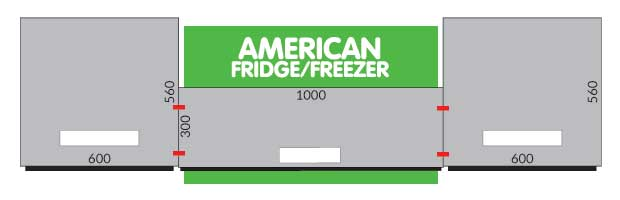 How do I box in an American Fridge/Freezer?