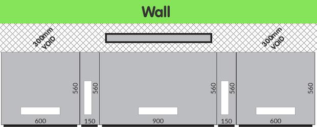 Downdraft extractor void