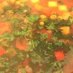 Romanian meatball soup ciorba-de-perisoare