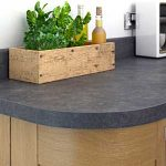 Square edged laminate worktop curved corner