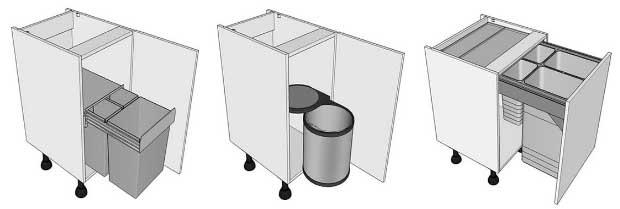 Highline waste bin kitchen units