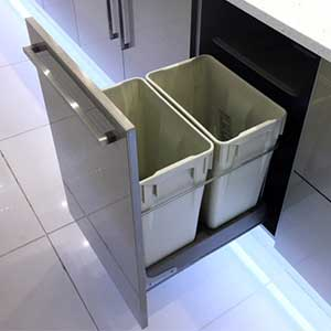 Can I put a waste bin in a kitchen unit?