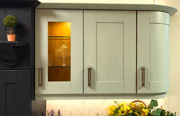 Wall unit glazed door example