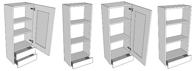 Worktop dresser unit examples