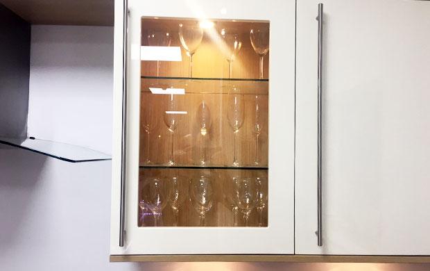 Livorna door glass shelves