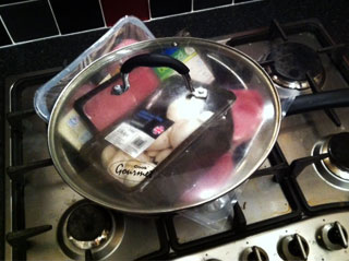 Cook everything in a sauté pan