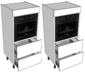 Single oven side by side
