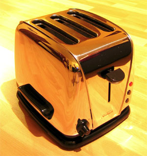 The invention of the pop up toaster