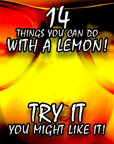 14 things you can do with a lemon