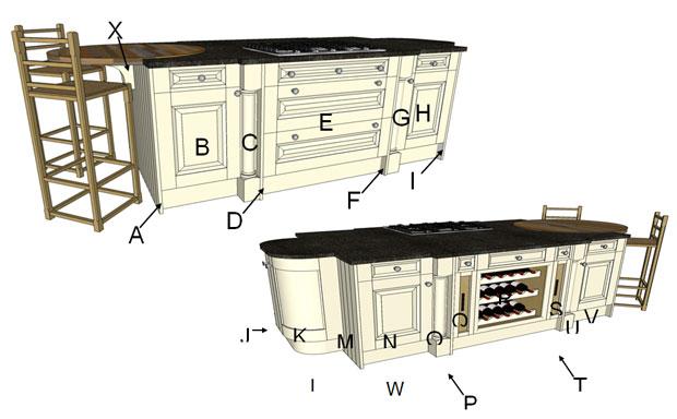 Cornell Classic Island Components