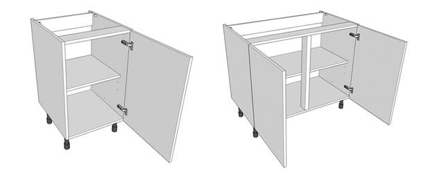 Single & double highline kitchen base units
