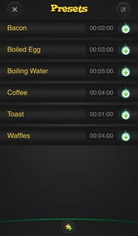 Kitchen timer iphone app