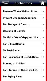 Kitchen tips iphone app