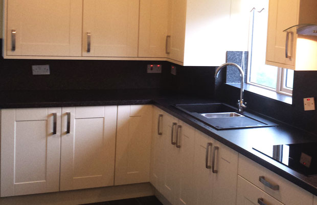 Black Sparkle Kitchen Splashback