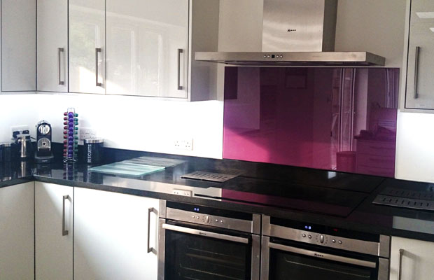 Black Tiled Kitchen Splashback