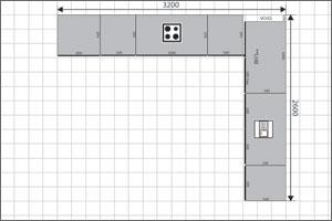 L Shaped Kitchen Floor Plan