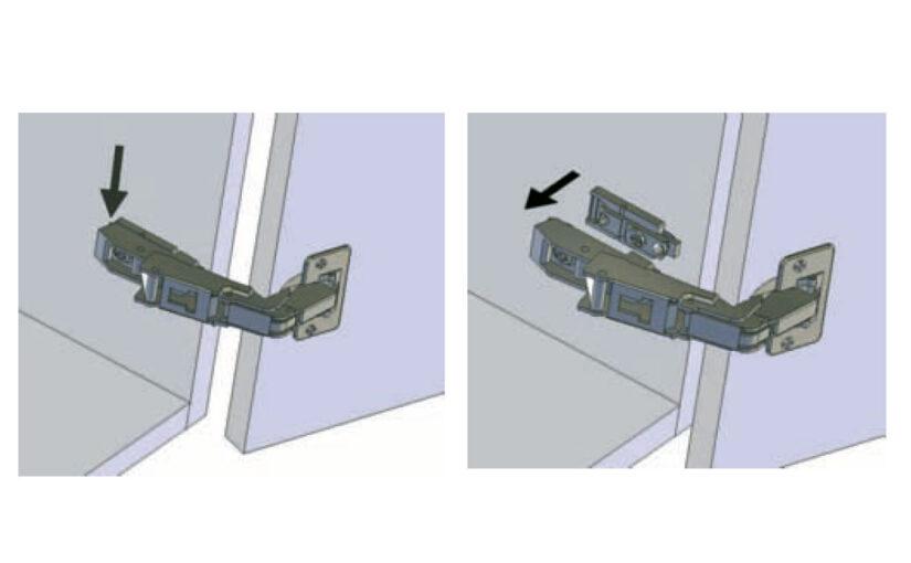 How to adjust a kitchen unit hinge & door
