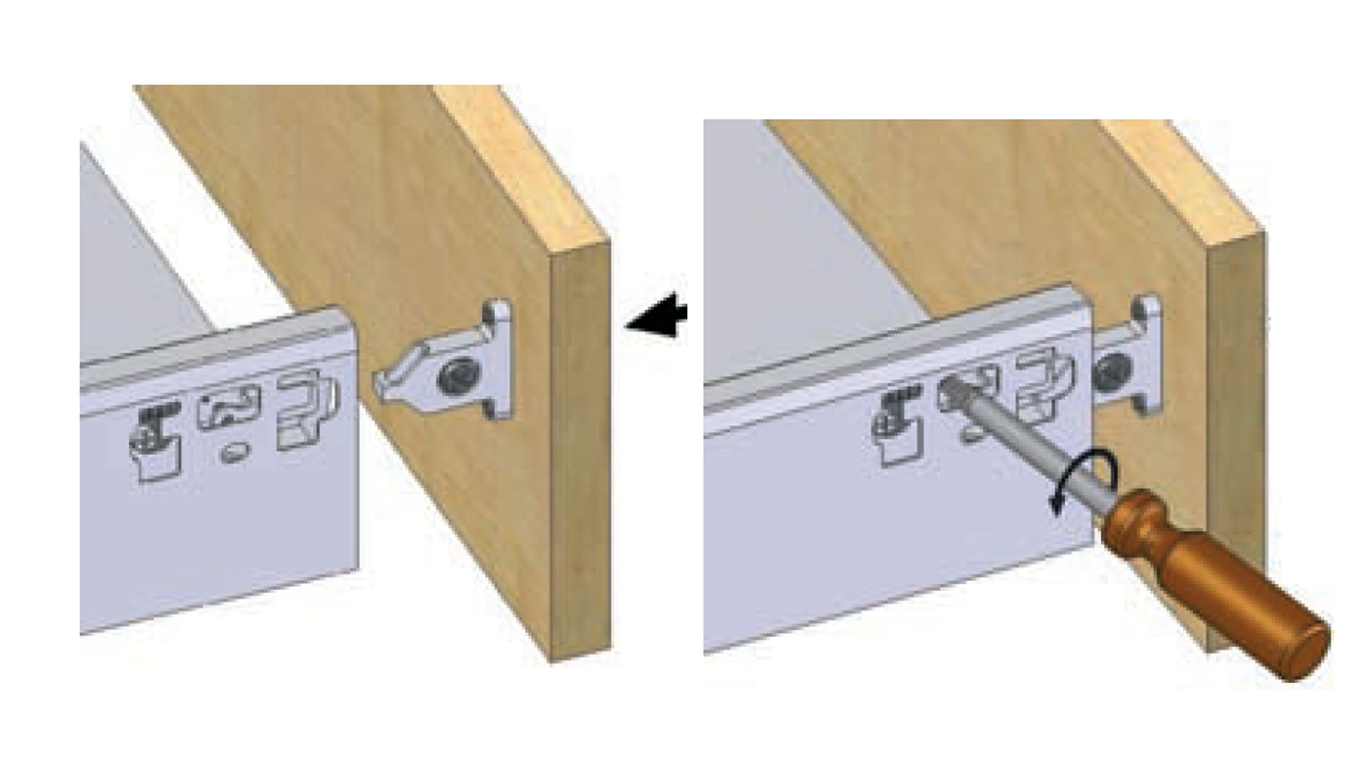 How To Attach A Drawer Front And Adjust Diy Kitchens Advice