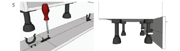 How To Adjust Unit Legs And Attach Plinth Diy Kitchens