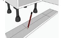 Marking the plinth