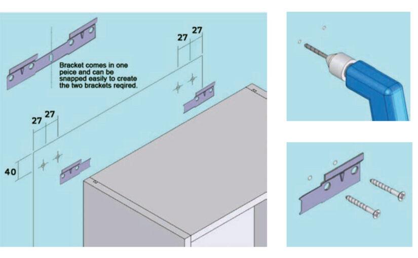 Wall unit fitting & adjustments