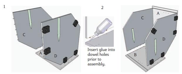 2 glue and dowel holes