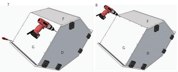 5 pilot drill holes
